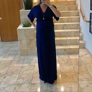 ASOS maternity navy maxi dress, like new, US6